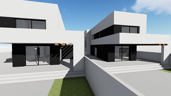 Cap ras construction d 39 une villa moderne au canal avec piscine garage et amarre for Construction piscine 972